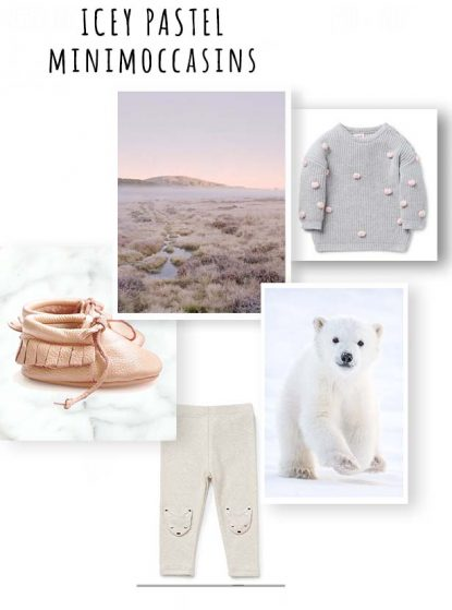icey pastel minimoccasins moodboard