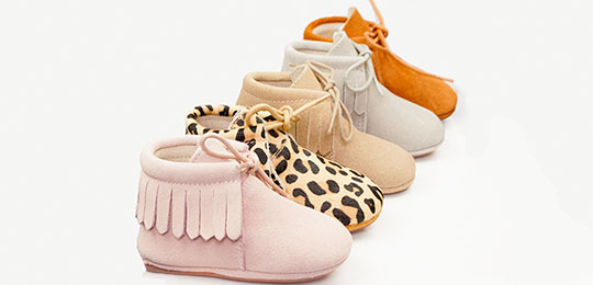 Leren Babyslofjes In Minimoccasins Style ★ Baby Moccasins